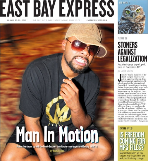 East Bay Express Cover: Motion Man