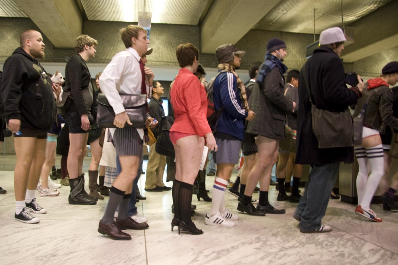 SF-No Pants Subway Ride