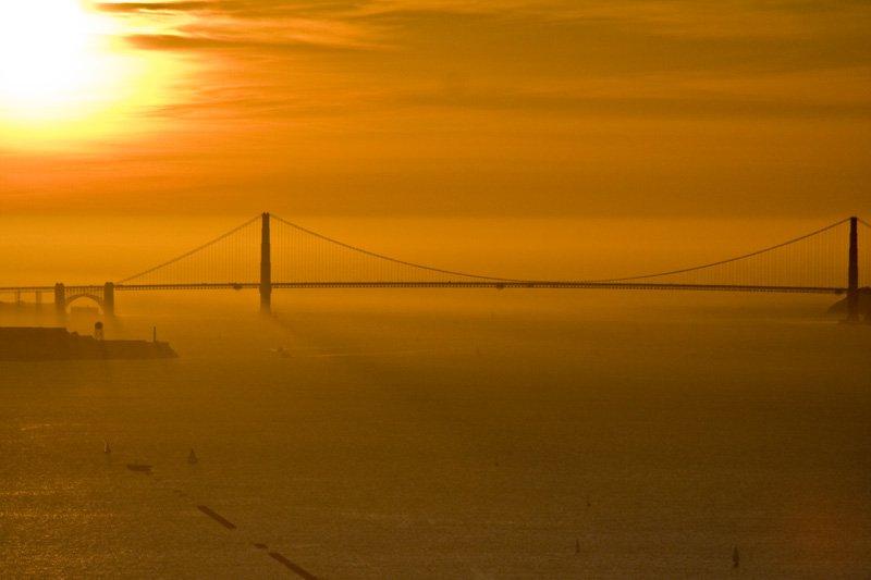 Golden Gate Sunset from the Berkeley Hills