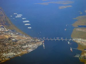 Suisun Bay and Mothball Fleet Aerial Photo